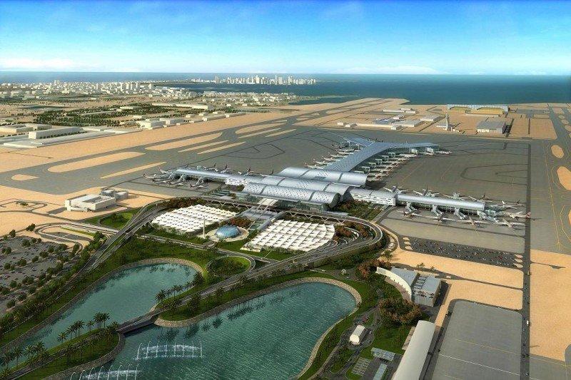 Infografía del Aeropuerto Internacional de Hamad, cuya inauguración está prevista para el segundo semestre de 2014.