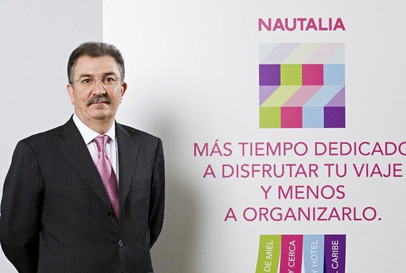 José María Lucas en 2011, durante la presentación de Nautalia.