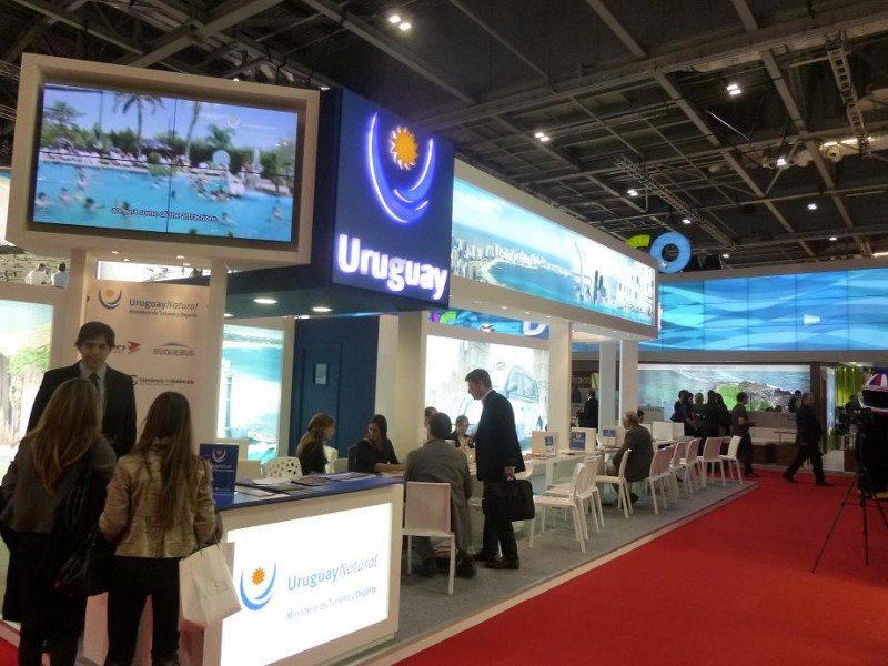 Stand de Uruguay en la feria World Travel Market.