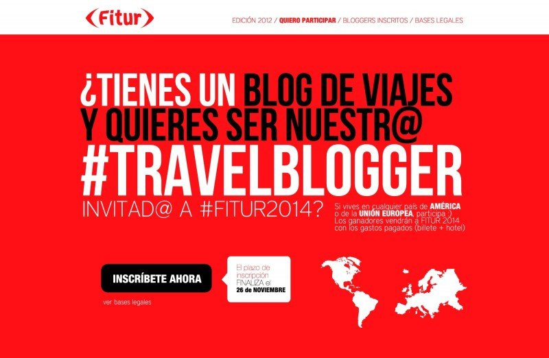 FITUR 2014 elegirá al mejor blogger de turismo de Europa y América