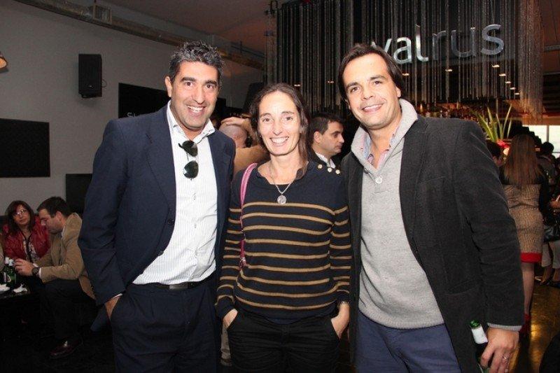 Rodrigo Rosales, Carolina Artagaveytia y Andrés Gil de Latam Airlines Group