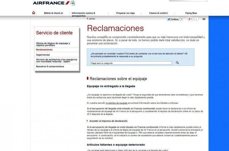 Air France KLM responde los reclamos en el idioma de sus pasajeros