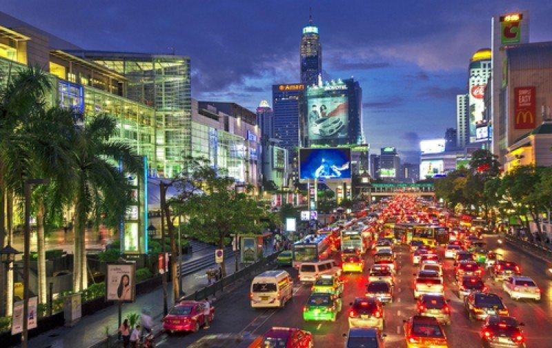 El centro urbano de Bangkok. #shu#