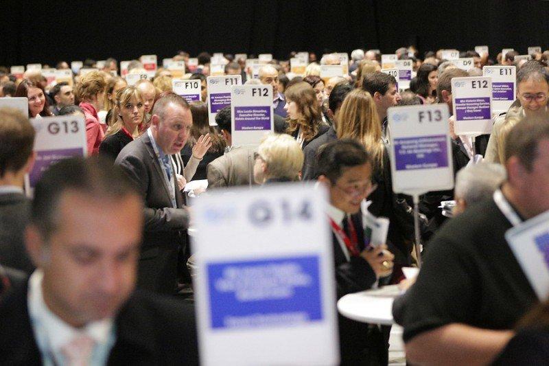 Sesión entre compradores y vendedores en la feria World Travel Market de Londres, el pasado noviembre.