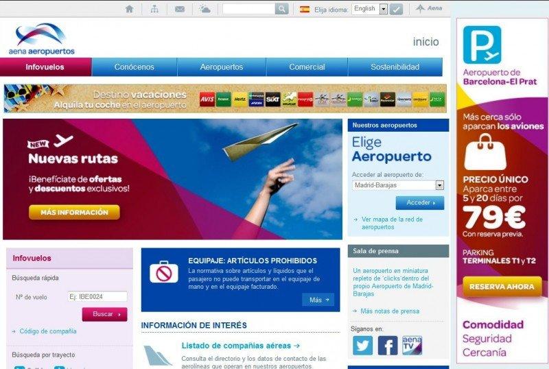 Las aerolíneas pueden publicitar nuevas rutas y ofertas en la web de Aena