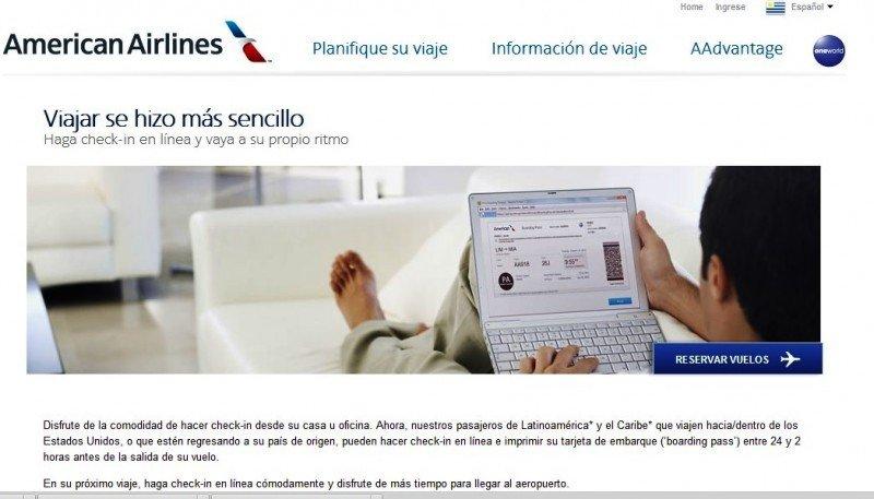 American Airlines abre check-in online a pasajeros latinoamericanos