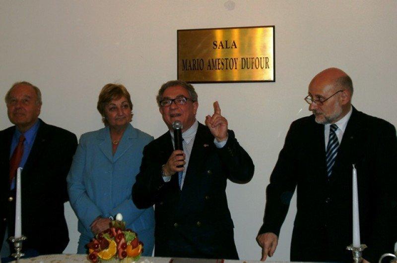 Luis Borsari en la sede de la Cámara Uruguaya de Turismo.