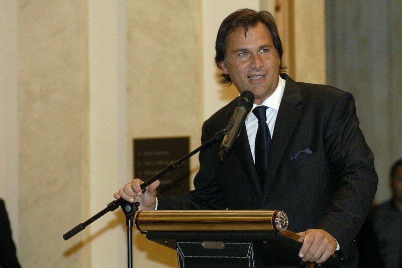 Guillermo Arcani en la inauguración del hotel casino, el 7 de marzo de 2013.