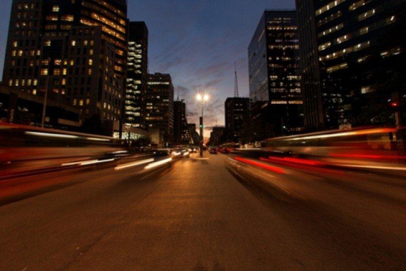 Avenida Paulista, en la ciudad de Sao Paulo. #shu#