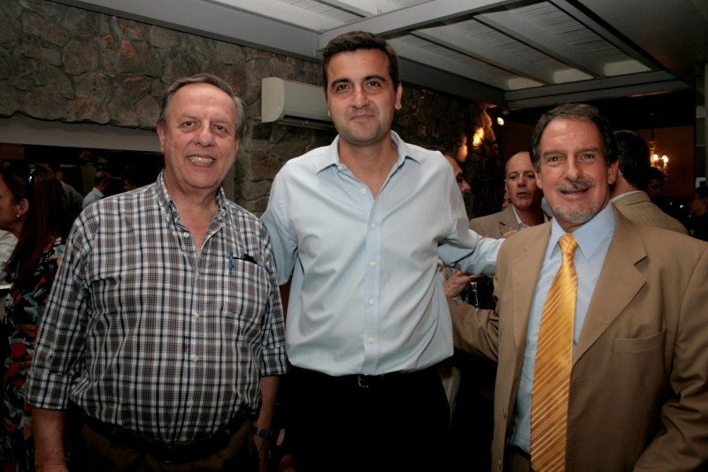 Antonio Gallicchio, Francisco Chiari y Javier Batista.