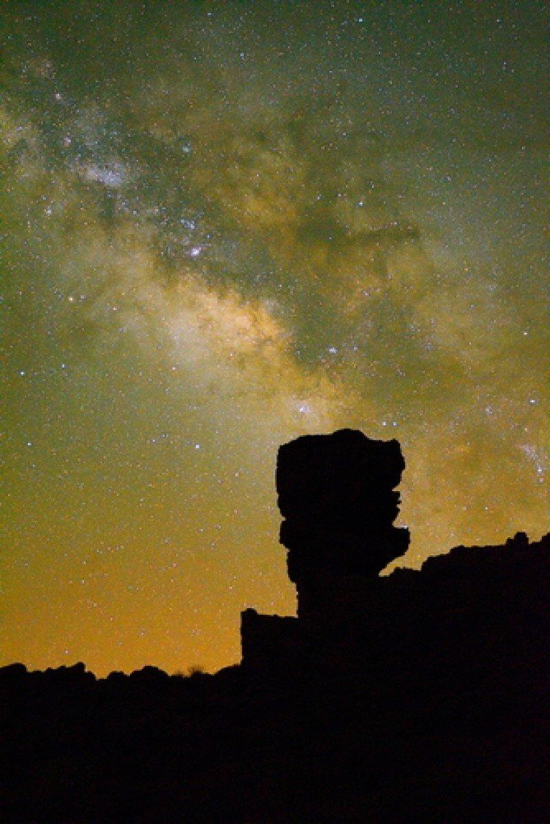 La Vía Lactea, contemplada desde el Parque Nacional del Teide, Tenerife. #shu#