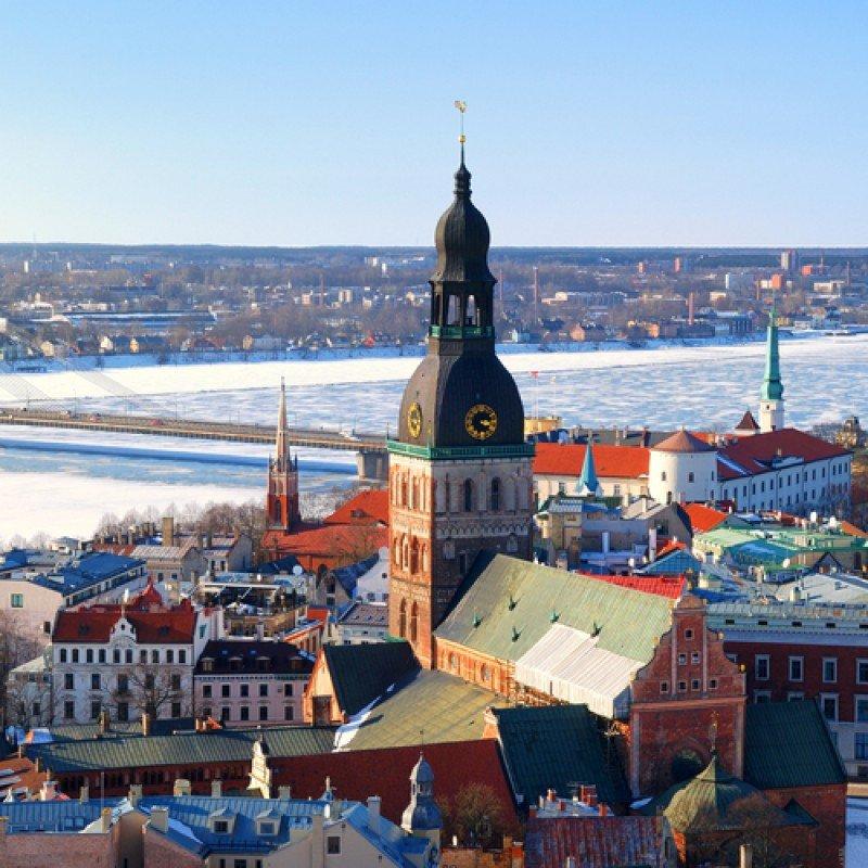 Riga, la capital de Letonia. #shu#