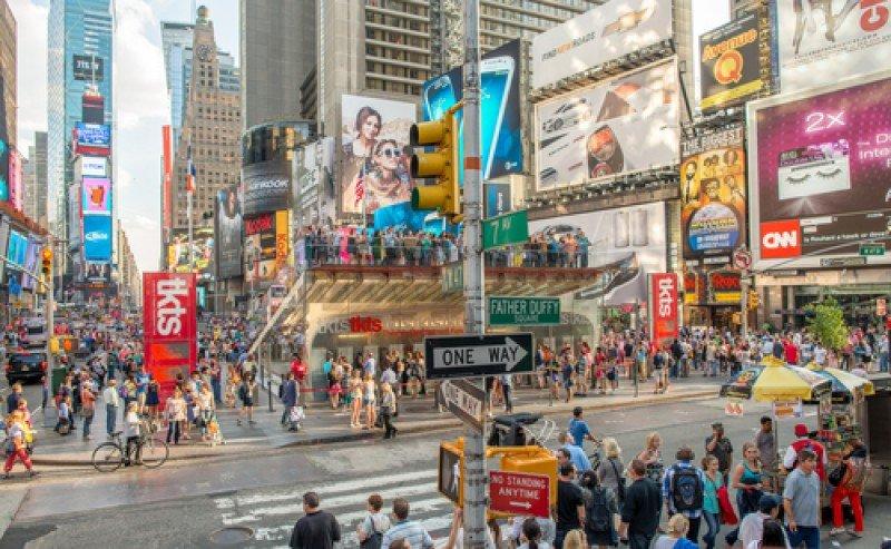 Times Square, uno de los puntos más visitados de Nueva York. #shu#