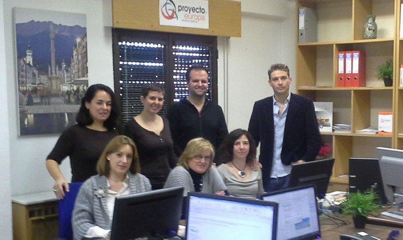 Parte del equipo de Proyecto Europa.