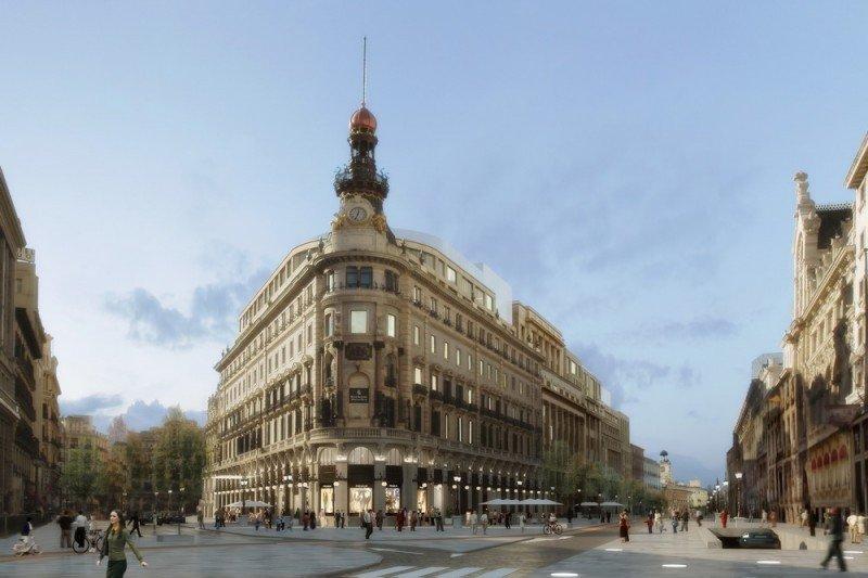 Infografía del Proyecto Canalejas, protagonista de la reconversión hotelera en el centro de Madrid.