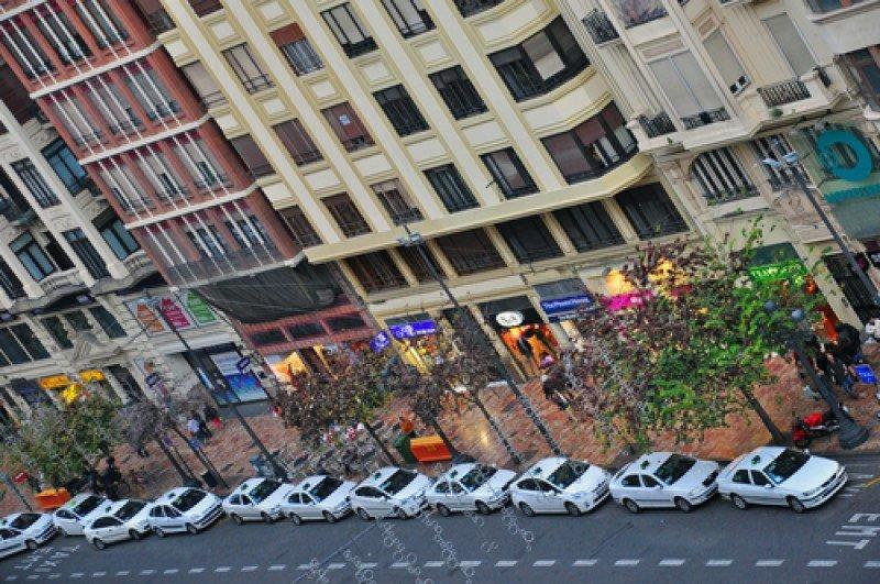 Parada de taxis en Valencia. #shu#