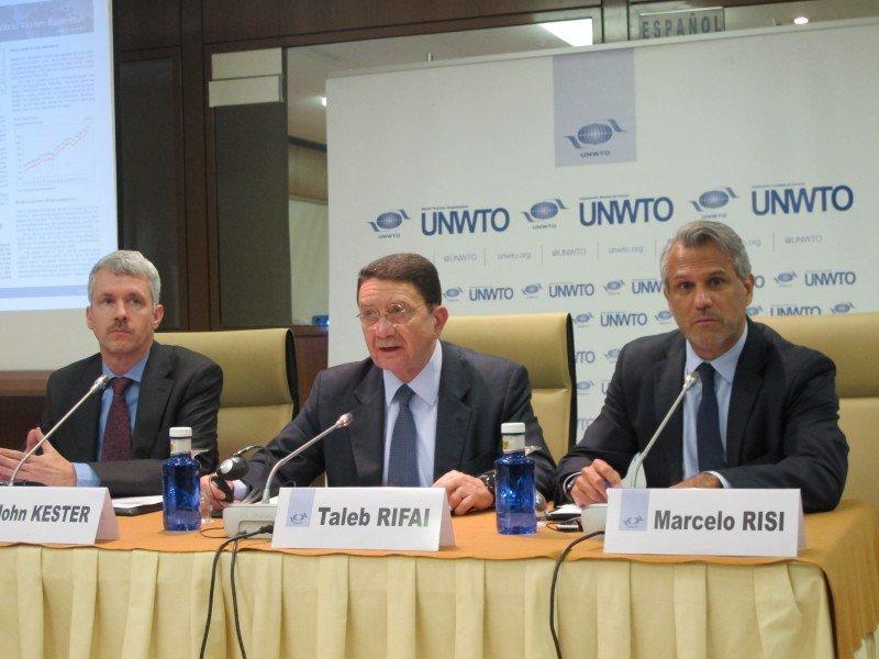 El secretario general de la OMT, Talef Rifai, presentó ayer el balance 2013 sobre los desplazamientos turísticos en el mundo.