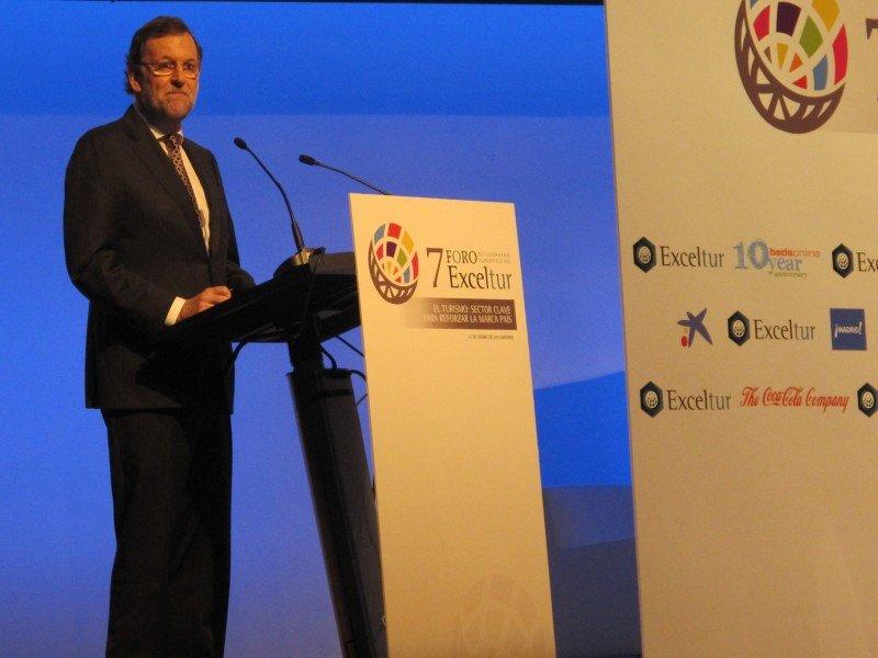 Mariano Rajoy, durante la inauguración del VII Foro Exceltur.
