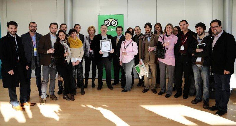 Imagen de algunos de los galardonados con el Travellers' Choice de TripAdvisor.