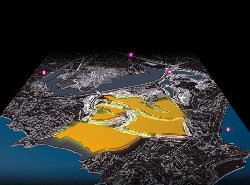 Mapa de ubicación del complejo BCN World, junto a PortAventura, en la provincia de Tarragona.