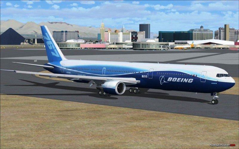 Simulación digital del Boeing 767.