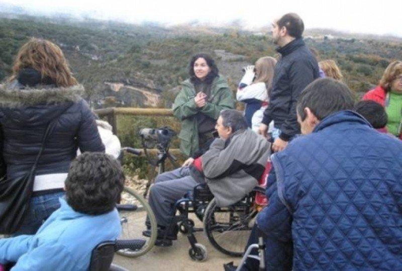 Senderos adaptados en uno de los espacios naturales de Aragón.