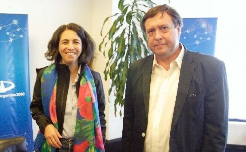 Mariana Giachino y Alberto Weretilneck.