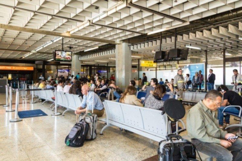 Aeropuerto de Guarulhos en Sao Paulo. #shu#