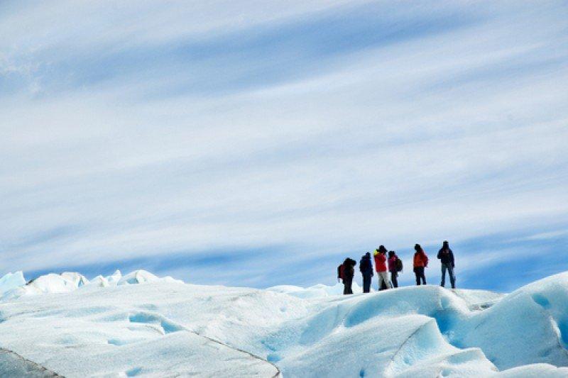 Las caminatas en el glaciar Perito Moreno son una de las experiencias que Argentina difunde. #shu#