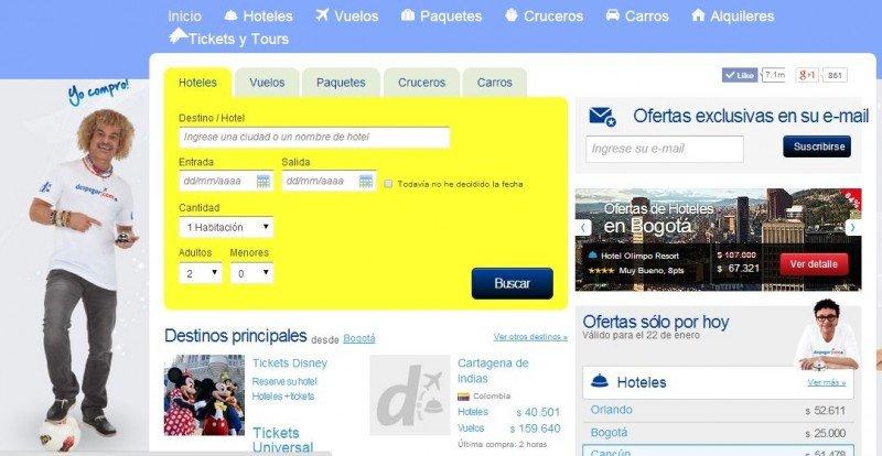 Colombia suspende temporalmente a Despegar.com por publicidad engañosa