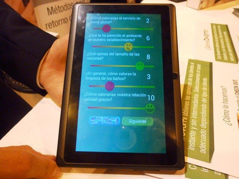 Encuestas de satisfacción por tablet