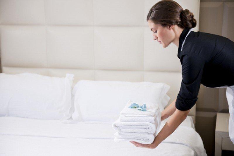 Una camarera de pisos de hotel. #shu#