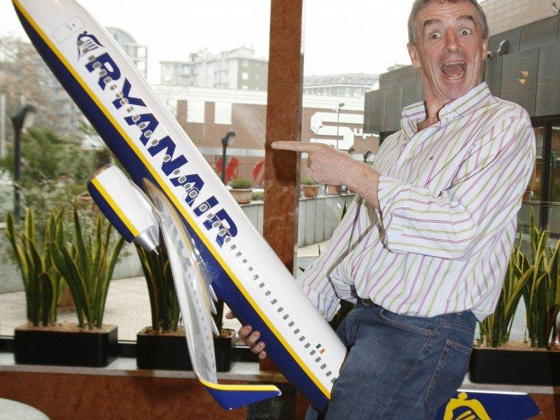 Michael O'Leary en una de sus habituales comparecencias ante la prensa.