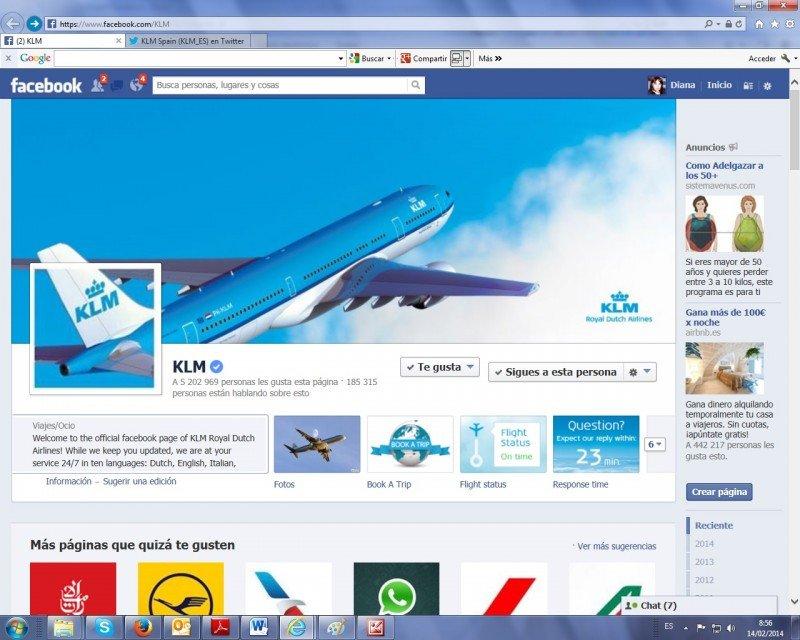 KLM lanza el pago online a través de Facebook y Twitter.