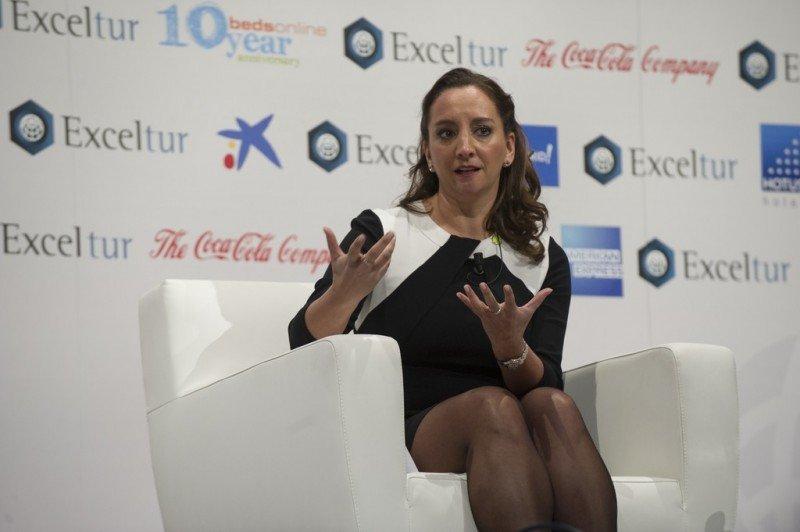 Claudia Ruiz Massieu, secretaria de Turismo de México, durante el Foro Exceltur que se celebró el pasado 21 de enero en Madrid.