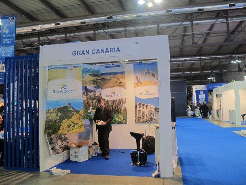 La isla de Gran Canaria presentó también su oferta en la ciudad italiana.