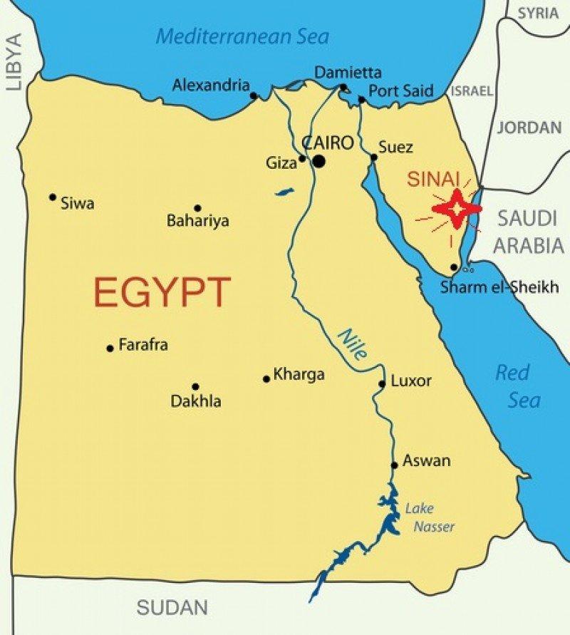 El atentado tuvo lugar en la península del Sinaí, cerca del paso fronterizo de Taba, entre Egipto e Israel.