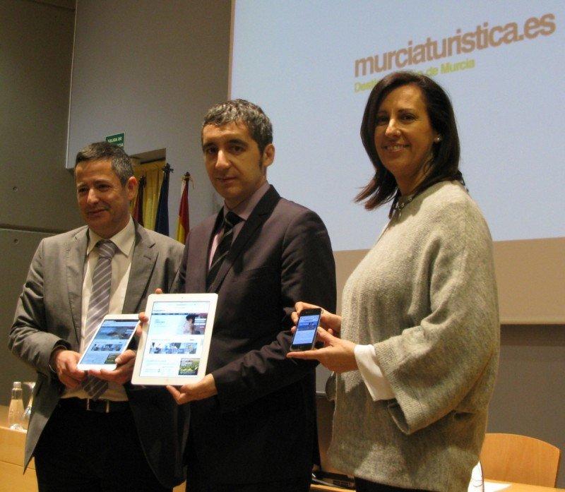 Presentación de la nueva web de turismo de la Región de Murcia.