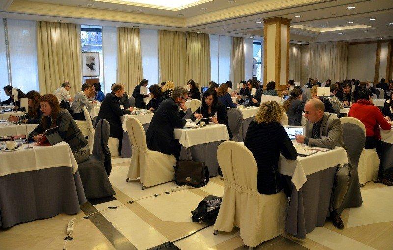 Una de las sesiones de trabajo del Iberian MICE Forum celebrado en Barcelona.
