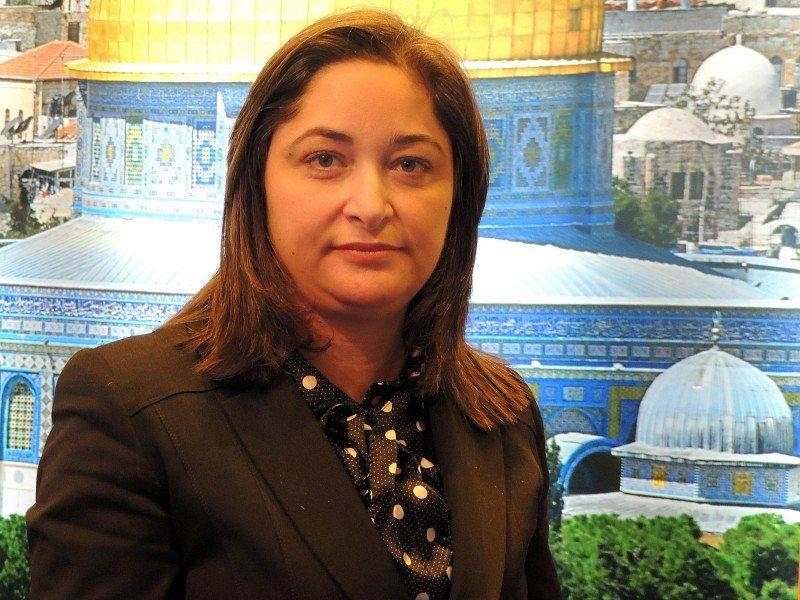 Rula Ma'Ayah, ministra de Turismo de Palestina.