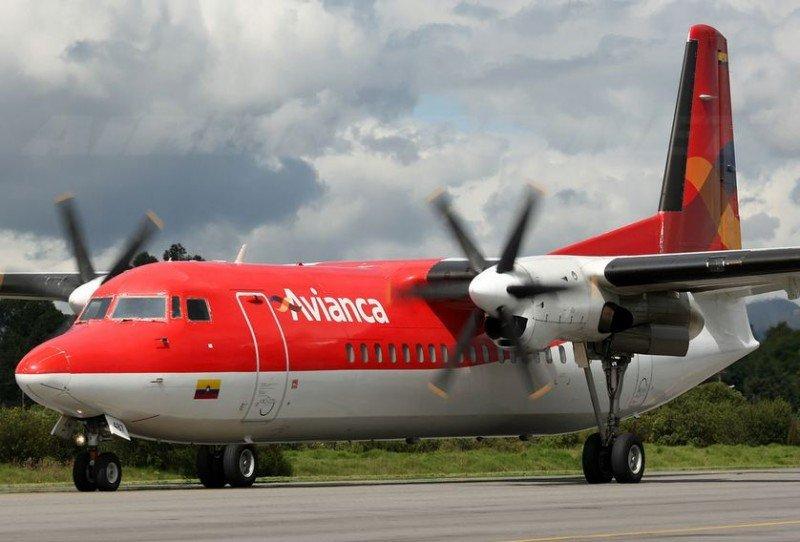Avianca cuenta con cuatro aviones turbohélice Fokker 50.