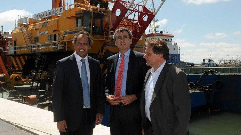 Daniel Scioli, Florencio Randazzo y Gustavo Pulti. (Foto: Prensa Gobernación)
