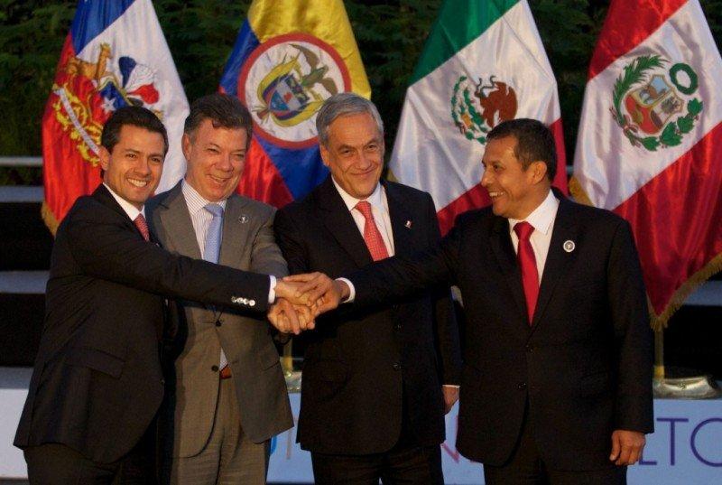 Presidentes de los países miembros de la Alianza del Pacífico.