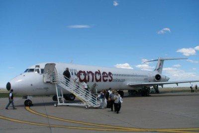 Andes volará de lunes a viernes entre Puerto Madryn y Buenos Aires.