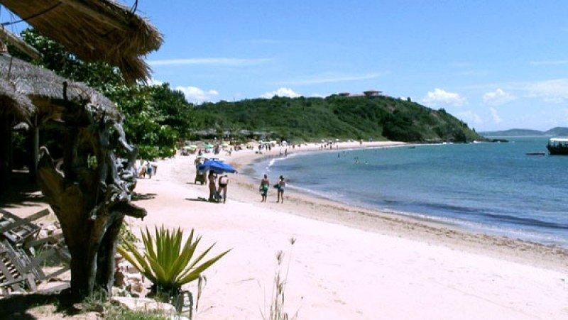 Praia da Tartaruga, en Búzios, a 190 kilómetros de Rio.