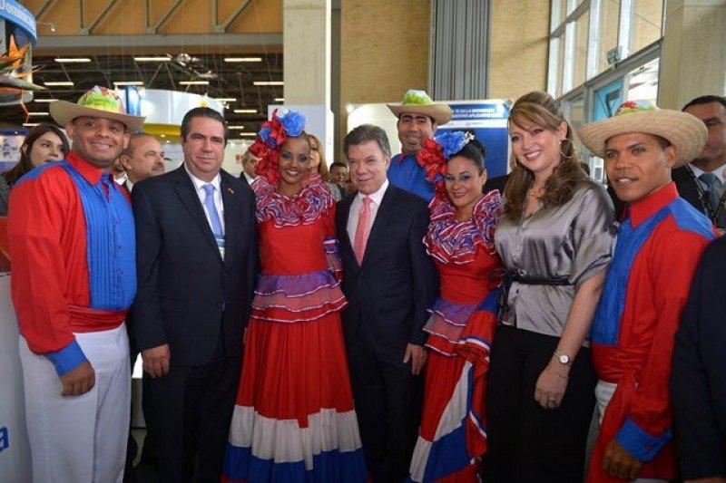Presidente de Colombia, Juan Manuel Santos, en la apertura de la XXXIII Vitrina Turística de Anato.