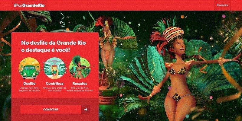 Grande Rio lleva a su fans de de las redes sociales al Samdódromo.