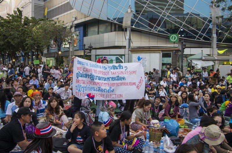 Bangkok viene registrando numerosas manifestaciones en los últimos meses. #shu#