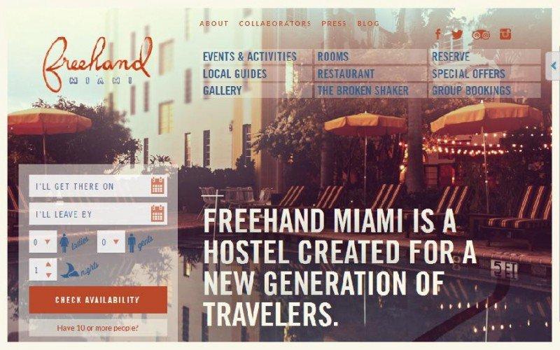 El hostel Freehand Miami destaca por su trabajo de editar, publicar y ampliar las fotos de sus clientes en su web.