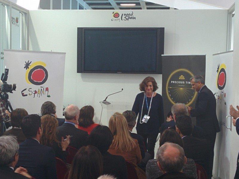 Ana Botella presentó ayer en la ITB el nuevo proyecto.
